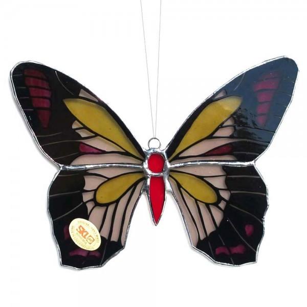 Fensterbild Schmetterling rot-gelb