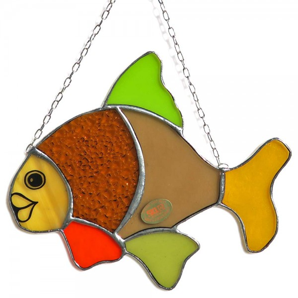 Fensterbild Fisch gelb-grün