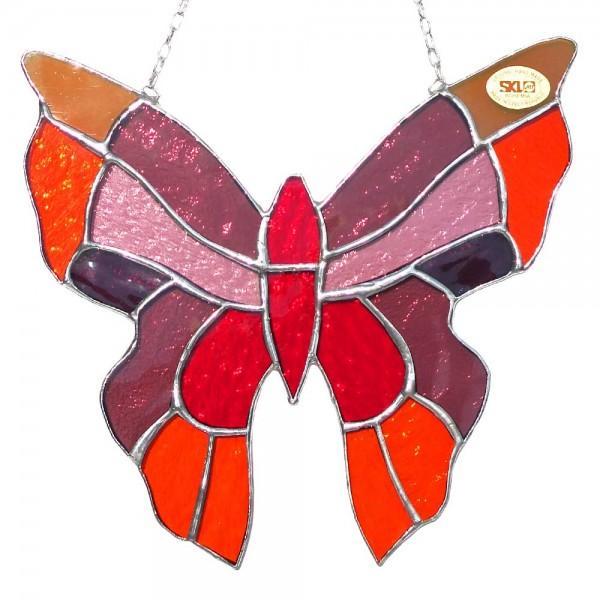 Fensterbild Schmetterling rot groß