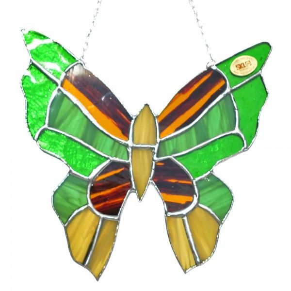 Fensterbild Schmetterling grün-gelb groß
